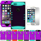"""Phone Case for iPhone 6 4.7"""" Armor Hard Cover Dark Purple + Screen Protector"""