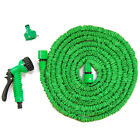 Flexible Latex 50 75 100 Feet Expanding Garden Water Hose Pipe Reel Spray Nozzle