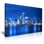 CHICAGO Skyline At Night Canvas Framed Print ~ More Size