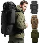 80L Outside Travel Hiking Camping Luggage Backpack Rucksack Bag Day Packs Hot