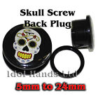 5mm to 24mm New Skull & Anchor Picture Plug / Tunnels