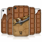 HEAD CASE CHOCOLATY GEL BACK CASE COVER FOR APPLE iPHONE 3GS