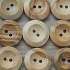 ASSORTED SALE NATURAL 2-HOLE WOODEN BUTTONS