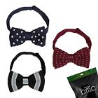 BMC Mens Crochet Knitted Adjustable Pre-Tied Fashion Bowtie 3pc Collection