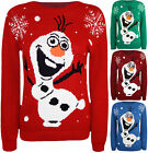 New Childrens Kids Olaf Frozen Xmas Novelty Top Knitted Christmas Jumper 7 - 13