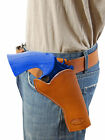 """NEW Barsony Saddle Tan Leather Cross Draw Gun Holster for Colt 4"""" Revolvers"""