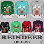 Ladies Women Mens XMAS Reindeer Fair Isle Novelty Plus Size Christmas Jumpers
