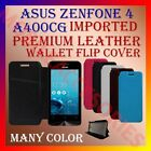 MULTI-COLOR IMPORTED PREMIUM LEATHER CASE for ASUS ZENFONE 4 A400CG FLIP COVER