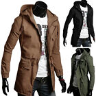 Cool Mens Warm Slim Long Sleeve Hooded Coat Outerwear Jackets Military Style PJ