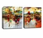 Set Of 2 Abstract Color Pattern Stretched Canvas Prints Framed Wall Art Decor AU