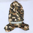 Fashion Pet Dog Puppy Camo Rain Coat Raincoat Clothes Clothing Waterproof New
