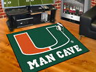 Miami Hurricanes Man Cave Area Tailgate Rugs 3 Sizes