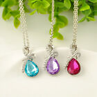 New Fashion Celebrity Women's Crystal Rhinestone Pendant Necklace Chain Hot Gift