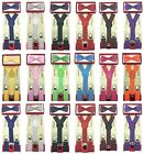 Polka Dot Suspender  Bow Tie Matching Colors Sets for Boys Girls Kids Baby