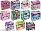 KIDS GIRLS BOYS DISNEY MULTI-BIN TOY ORGANIZER BOXES STORAGE-MULTIPLE CHARACTERS