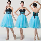 CHRISTMAS GIFT Strapless Evening Party Bridesmaid Prom Cocktail Wedding Dresses