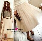 Chic Elegant 3 Layered Gauze Tulle Long Skirt 3 Colours