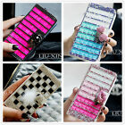 Flip Wallet Bling Crystal Diamond Leather Cover Case For iphone 4s 5 5s 6 6 Plus