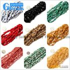 "Natural Gemstone Freeform Chips Nugget Loose Beads Strand 34"" 5-8mm 50 Materials"