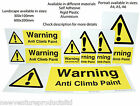 Professional Anti Climb Paint Warning Signs - Fade Resistant & Long Lasting