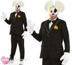 SECRET AGENT DANGERMOUSE COSTUME 1980S MENS FANCY DRESS TUXEDO TUX 80S CARTOON