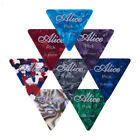 12 x LARGE TRIANGLE GUITAR PICKS plectrums thin medium heavy wedge acoustic