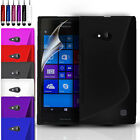S-Line Silicone Gel Case Cover For Nokia Lumia 730 / 735 & FREE Screen Protector