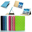 Grid Smart Auto Sleep PU Leather Stand Flip Case Cover For iPad Air 2 MINI 2 3