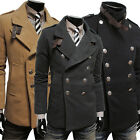 FREE P&P    2015 Coats Double Breasted Peacoat Winter Men Business Coats Jackets