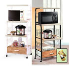 CT1 NEW KITCHEN MICROWAVE UTILITY CART ROLLING SHELF BAKERS RACK POWER STRIP