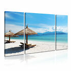 NATURE Seascape 39 Canvas 3B Framed Printed Wall Art ~ 3 Panels