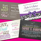 50 Personalised Engagement Invitations ★ Party Invites With Envelopes