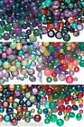 Lot of 100 Assorted Shape Size Styles & Color Fancy Mixed Glass Beads Small -Big
