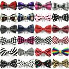 Polyester Silk Bowtie Necktie Cravat Bowknot For Men Adults Adjustable With Hook