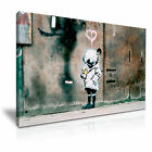 Banksy Space Girl with Bird Graffiti Wall Art Canvas Print Framed Box