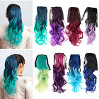 60cm Ombre Ponytail Hairpieces Hair  Clips in Cruly Wave Fashion Hair Extension