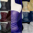 Plain Sheer Stretch Fabric With Subtle Shimmer Lightweight