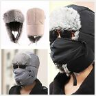 Warm Unisex Men Winter Trapper Aviator Trooper Earflap Warm Ski Hat With Mask