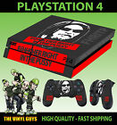 PS4 PLAYSTATION 4 CONSOLE STICKER FHRITP F@*K HER RIGHT IN SKIN + 2 X PAD SKINS