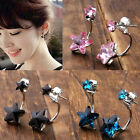 Fashion Womens Earrings Ear Stud Star Crystal Glass Gems Eardrop Jewelry Gift 2x