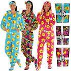 Womens Onesie New Hooded All In One Headband & Slippers Ladies Gift Box Set