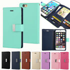 New Dual Leather Book ID Card Pocket Flip Wallet Case Cover For iPhone Galaxy LG