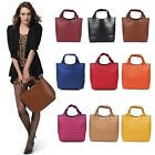 Women Lady Big PU Tote Clutch Tote Handbag Bag Purse Shopping Bags Shoulder Bag