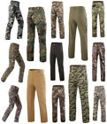 Men's Shark skin Military Heavy Fleece Soft Shell Waterproof Camo Pants Trousers