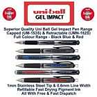 Uni Ball Gel Impact Rollerball Pen Ball Point Pens Broad 1mm Nib 0.6mm Line Ink