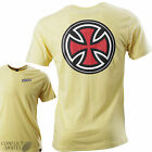 """INDEPENDENT """"Pinline Classic Cross"""" Skateboard T-Shirt Yellow S M L or XL"""