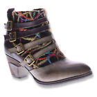 SPRING STEP L`Artiste Womens Redding Ankle Boots Taupe Multi Leather REDDING-TPM