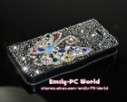 Handmade Luxury Butterfly Swarovski Element Crystal Leather Case For iPhone 5 5S