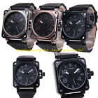 Men's Women's Digital Big Dial Military Army Sport Leather Quartz Wrist Watch