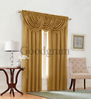 Emerald Crepe Complete 5 Piece Textured Window Curtain Set - Assorted Colors